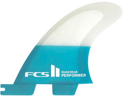 FCSII - Performer PC Teal Quad Rear Fin Set