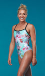 OHANA GIRLS KIANA DOUBLE BACK STRAP ONE PIECE - Ocean