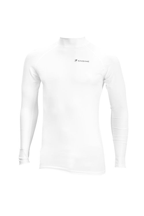 Engine Long Sleeve Rashie White