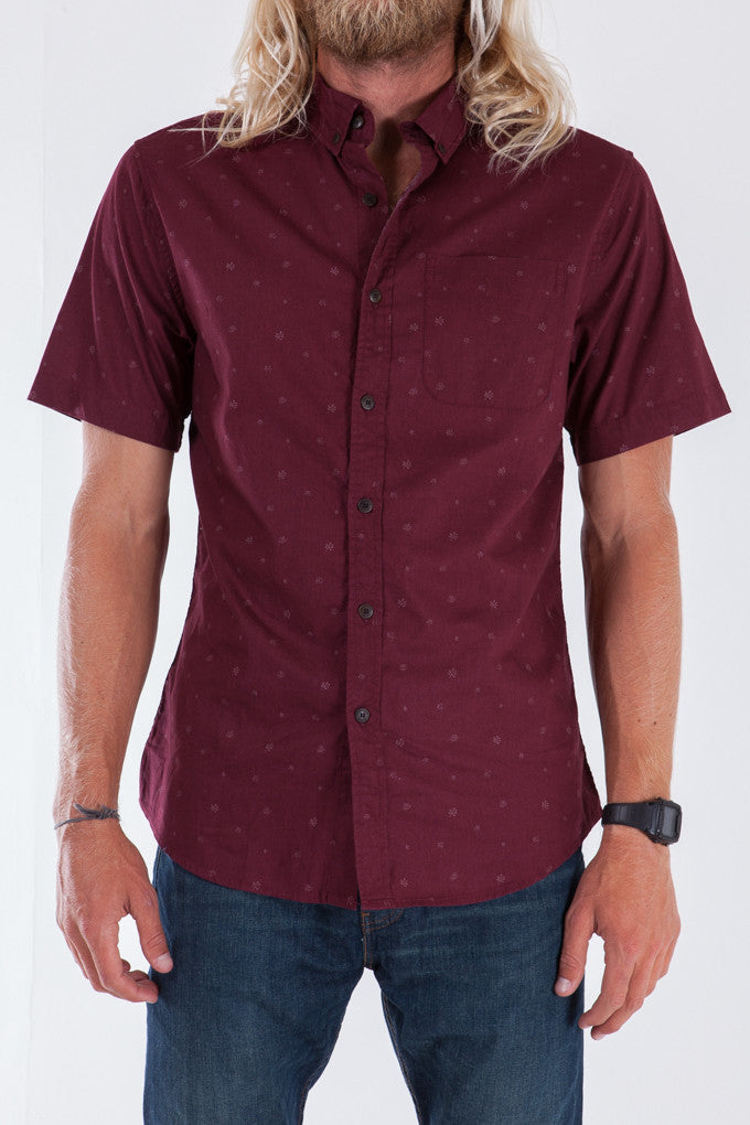 KATIN BANKS WOVEN SHIRT - TEMPLE RED