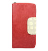 Belize Travel Wallet in cherry