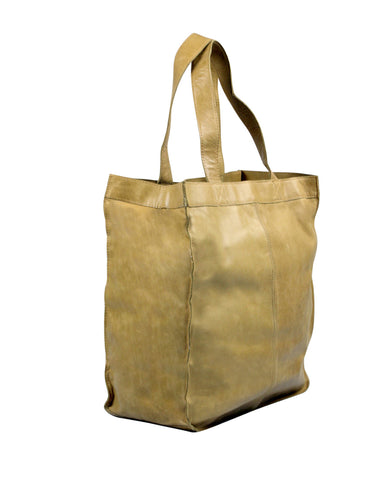 Capri Leather Shopper in honey