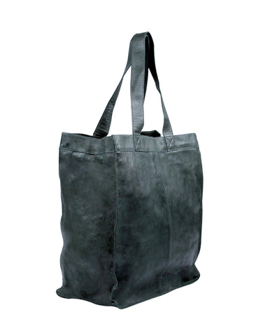 Capri Leather Shopper in licorice