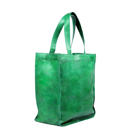 Capri Leather Shopper in Mint
