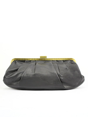 Hamptons Clutch Bag in espresso