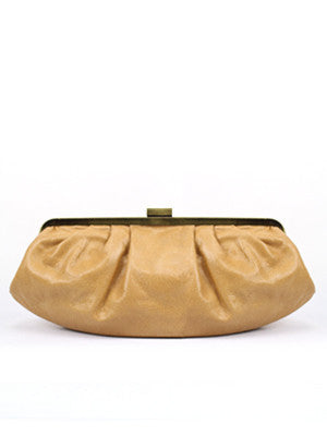 Hamptons Clutch Bag in Honey