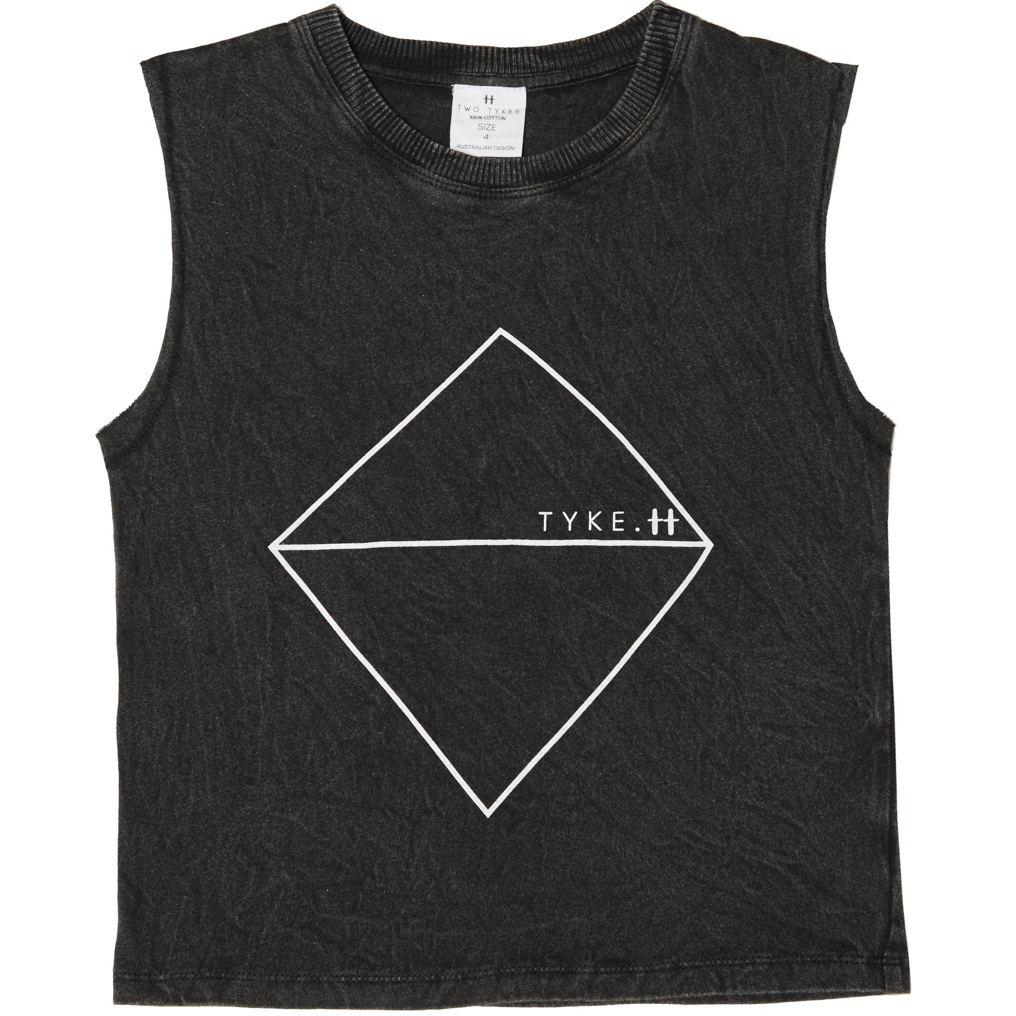 Tyke black stonewashed muscle tee