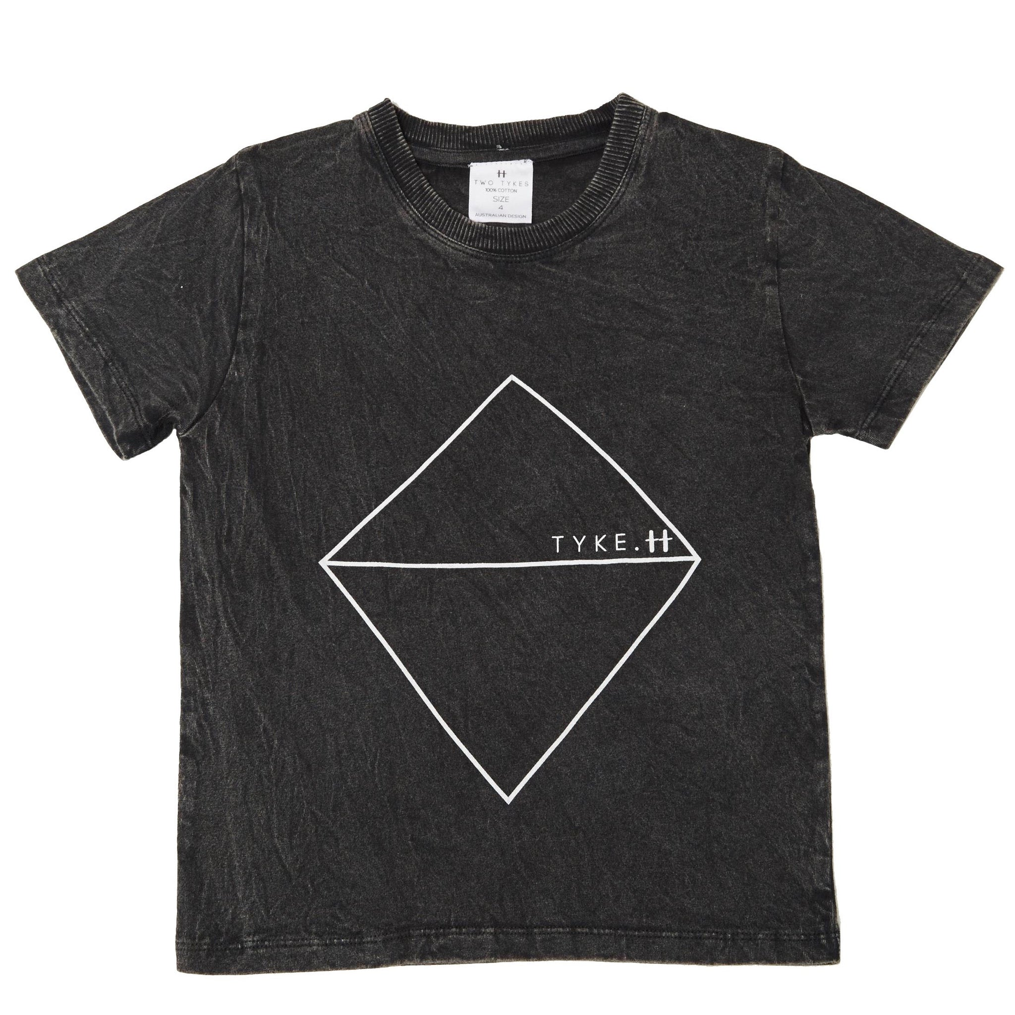 Tyke black stonewashed tee
