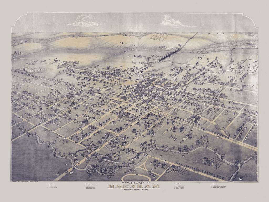 Brenham in 1881