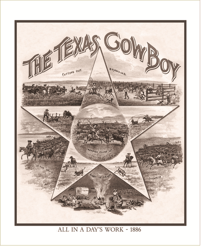 The Texas Cowboy - 1886 - Limited Edition Print