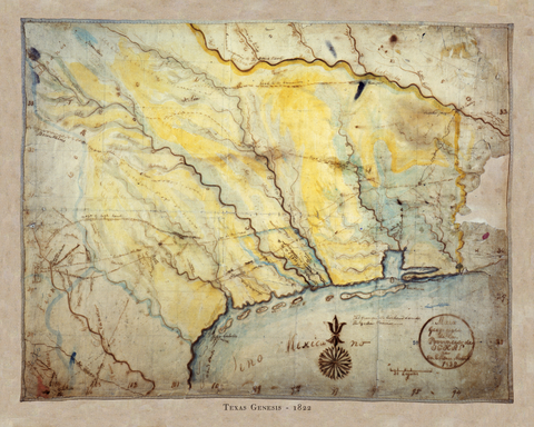 Texas Genesis - Stephen F. Austin's Map of 1822