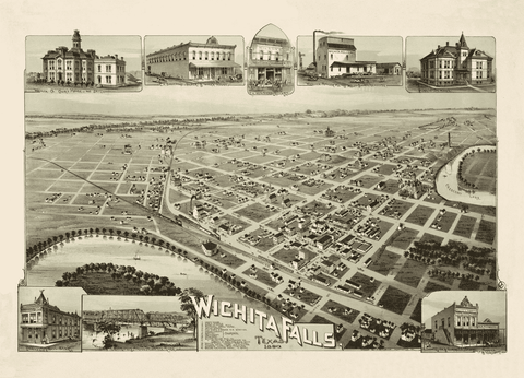 Wichita Falls in 1890