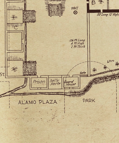A. J. Houston's Alamo Plaza Composite - 1938