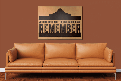Remember the Alamo - Maple Wood Panel Print