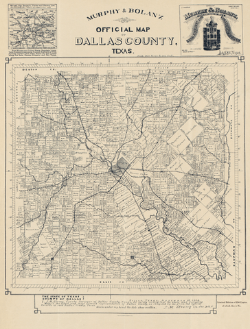Official Map of Dallas County - 1886