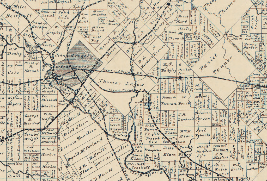 Official Map of Dallas County - 1886 – Copano Bay Press on