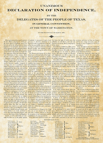 Texas Declaration of Independence - Personalized