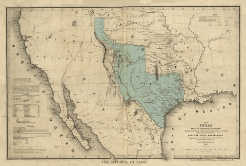 The Republic of Texas - 1844