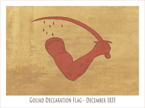 Goliad Declaration Flag - December 1835