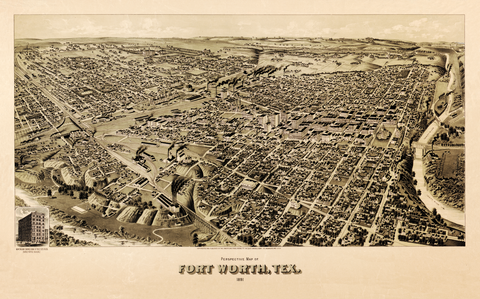 Fort Worth in 1891