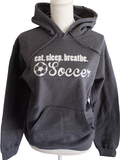 Eat. Sleep. Breathe. Soccer Hooded Sweatshirt and Headband Gift Set