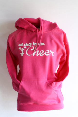 Eat. Sleep. Breathe. Cheer Hooded Sweatshirt