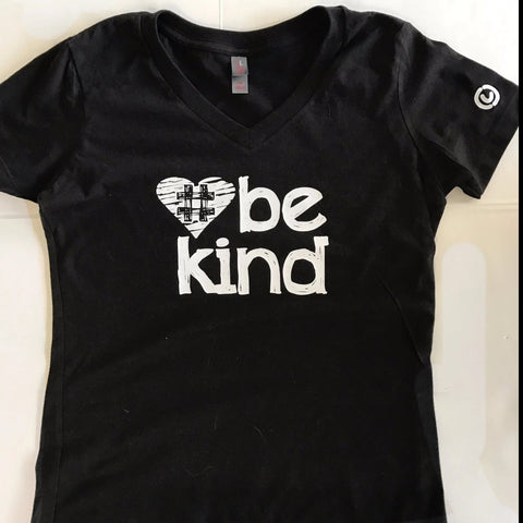 Be Kind Womens V-Neck T-Shirt