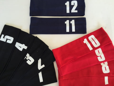 Cotton Headbands with Jersey Numbers