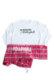 Volleyball Pajama Sets Eat.Sleep.Breathe. Long Sleeve tee and pant and Headband