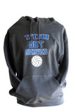 You Got Served Volleyball Hooded Sweatshirt