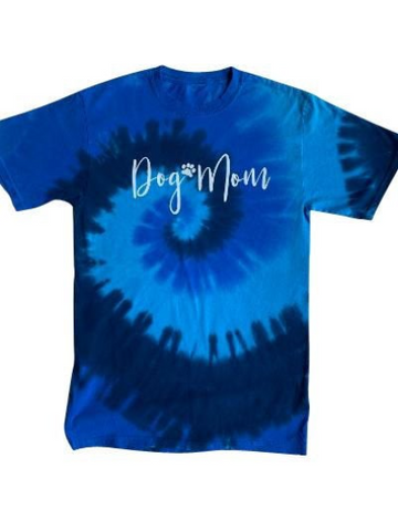 Dog Mom Tie Dye T-Shirt with A Dog Bandana