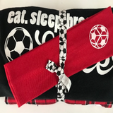 Soccer Pajama Gift Set Long Sleeve tee, Paid Pant, Headband and Bracelet