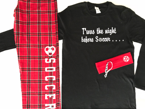 Twas the Night Before Soccer Pajama Gift Set Long Sleeve