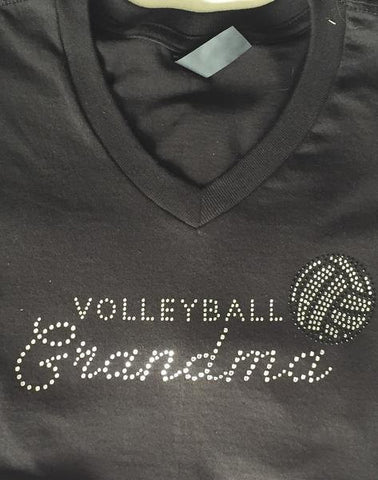 Grandma's Volleyball Rhinestone Shirt