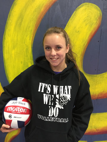 It's What We Do- Volleyball Hooded Sweatshirt