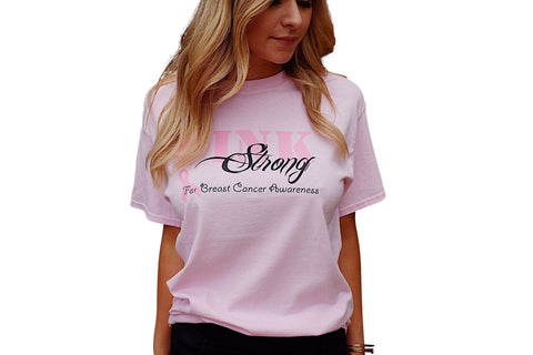 Breast Cancer Awareness Pink Strong T-Shirt