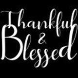 Womens V-Neck T-Shirt Thankful and Blessed