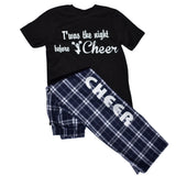 Cheer Pajama Gift Set Pant and Tee Twas the Night Before Cheer and Headband