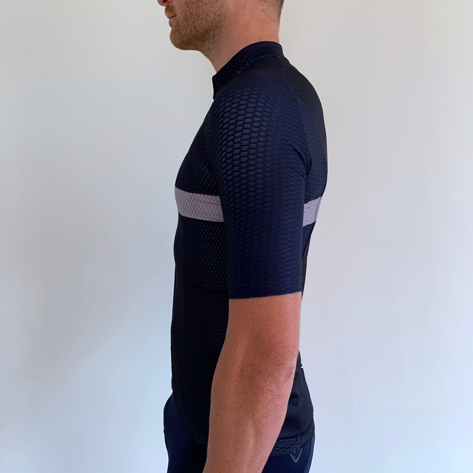 NAVY GREY STRIPE JERSEY