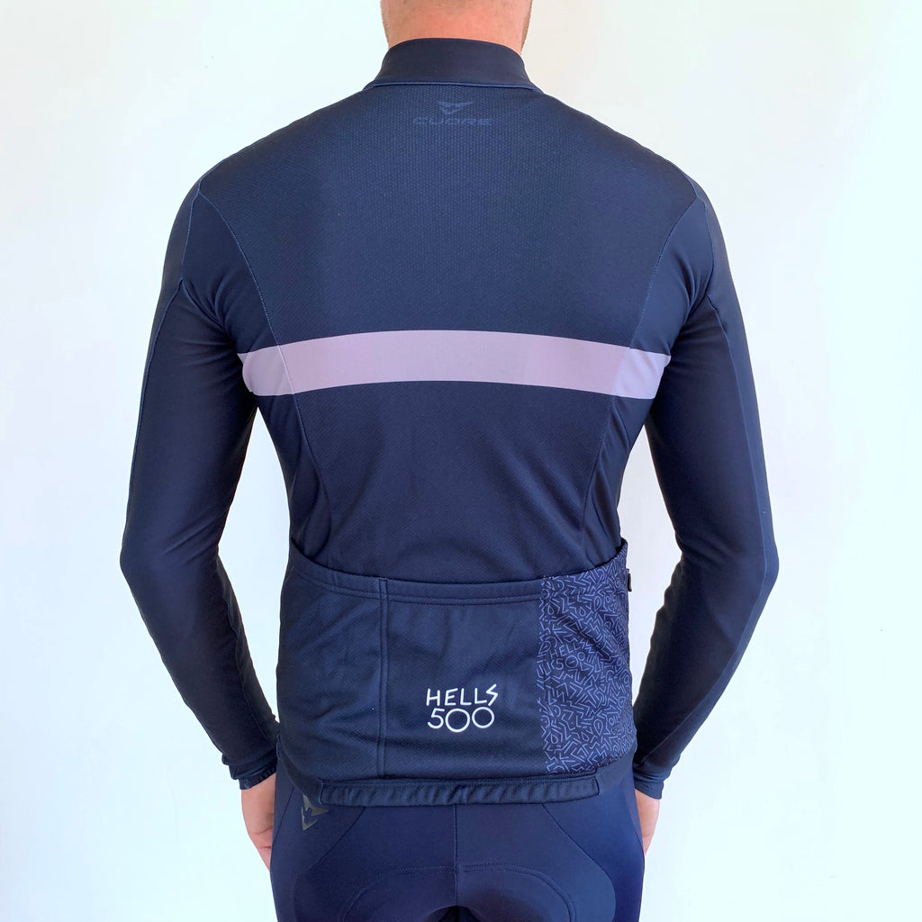 NAVY GREY STRIPE LONG SLEEVE JERSEY