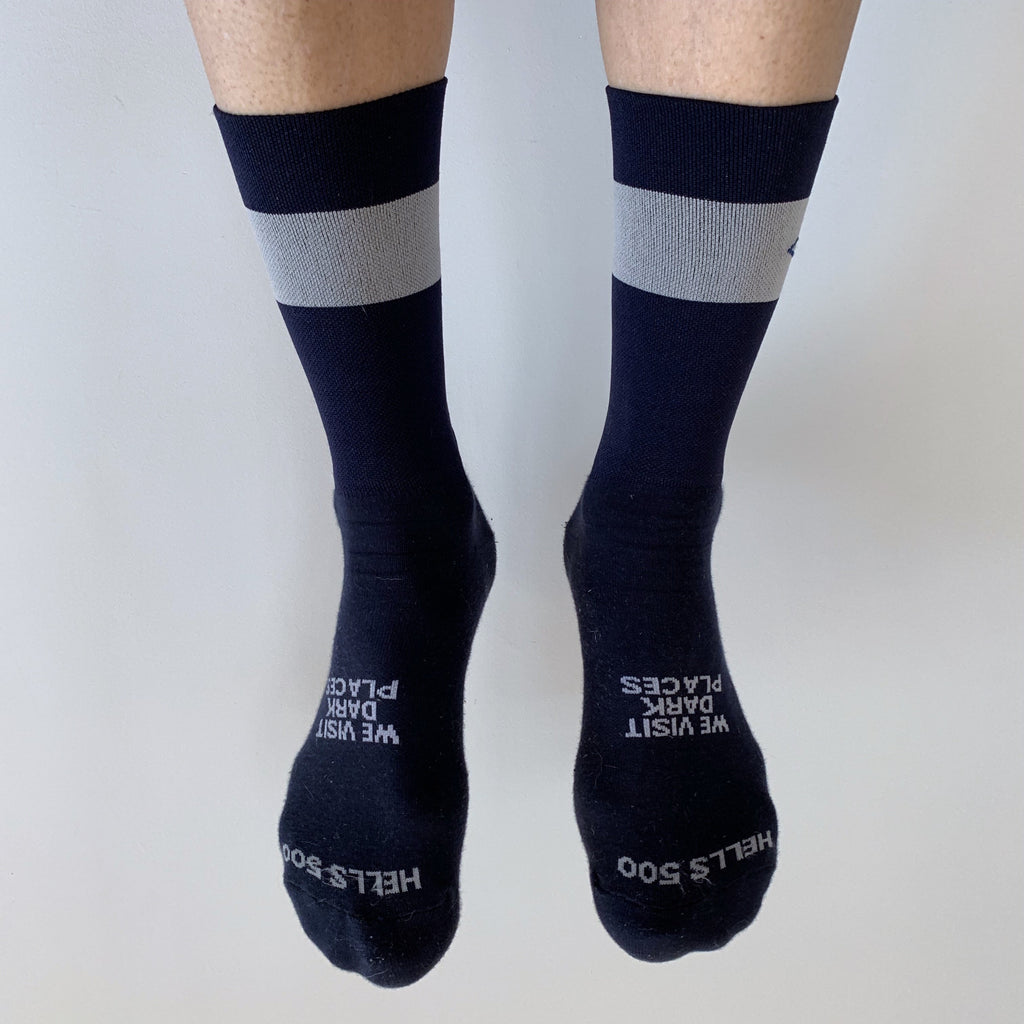 HELLS 500 'WVDP' NAVY SOCKS