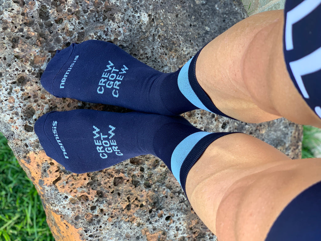HELLS 500 NAVY CREW SOCKS