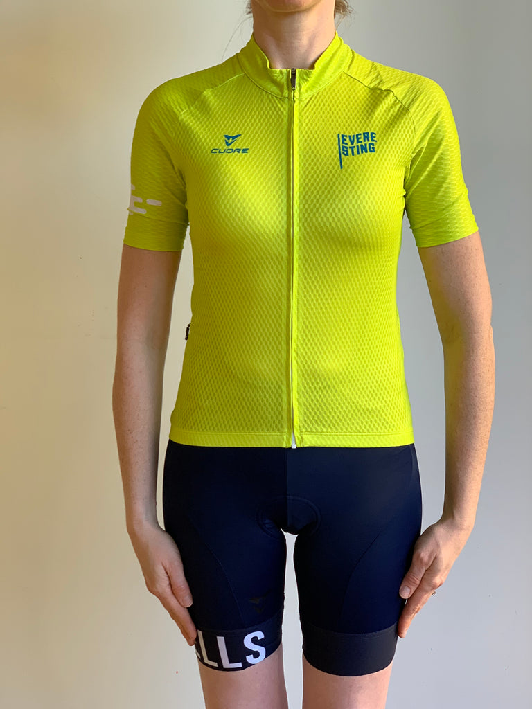 EVERESTING FINISHERS JERSEY LIME PUNCH WOMENS