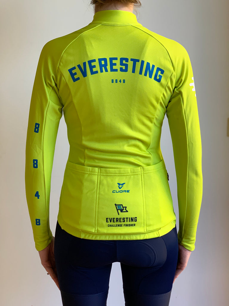 EVERESTING FINISHERS LONG SLEEVE JERSEY LIME PUNCH WOMENS