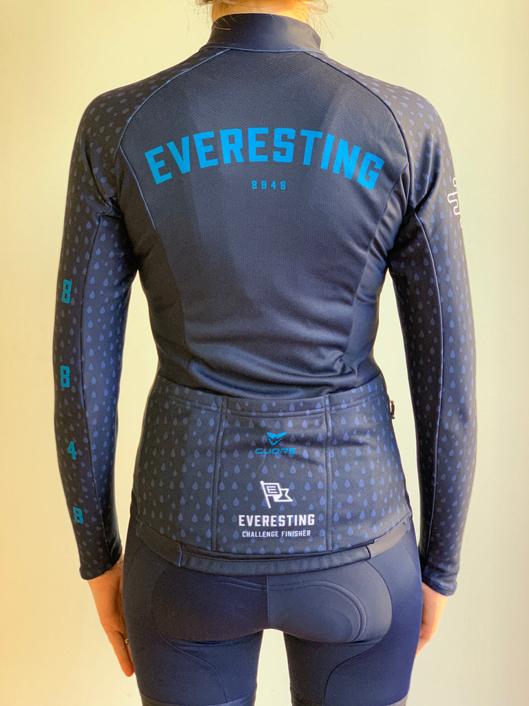 EVERESTING FINISHERS LONG SLEEVE JERSEY NAVY WOMENS