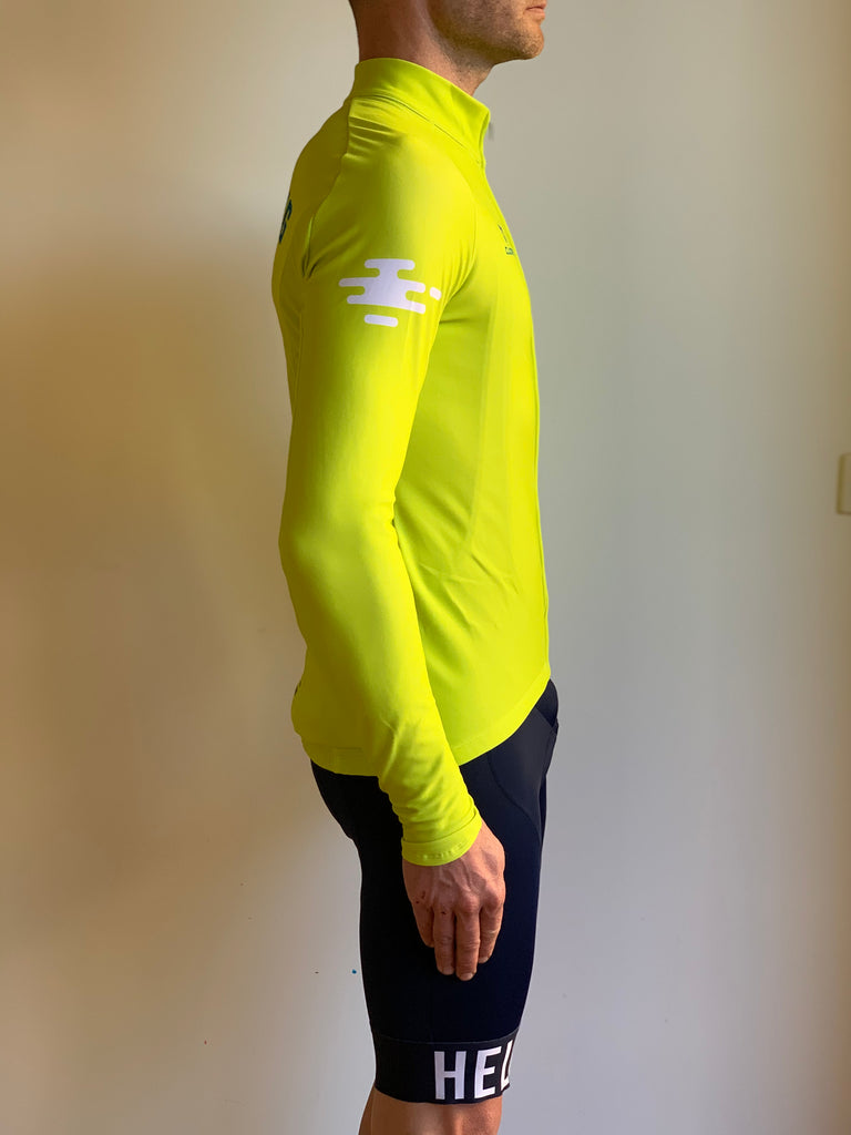 EVERESTING FINISHERS LONG SLEEVE JERSEY LIME PUNCH