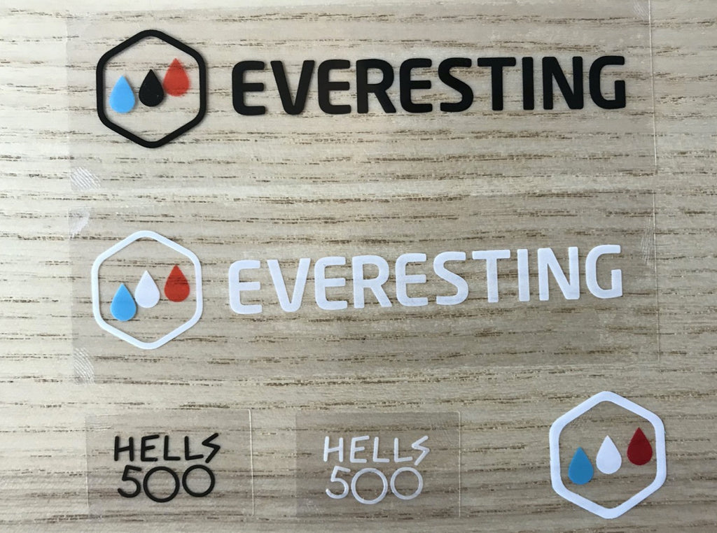 Everesting / Hells 500 Sticker Pack
