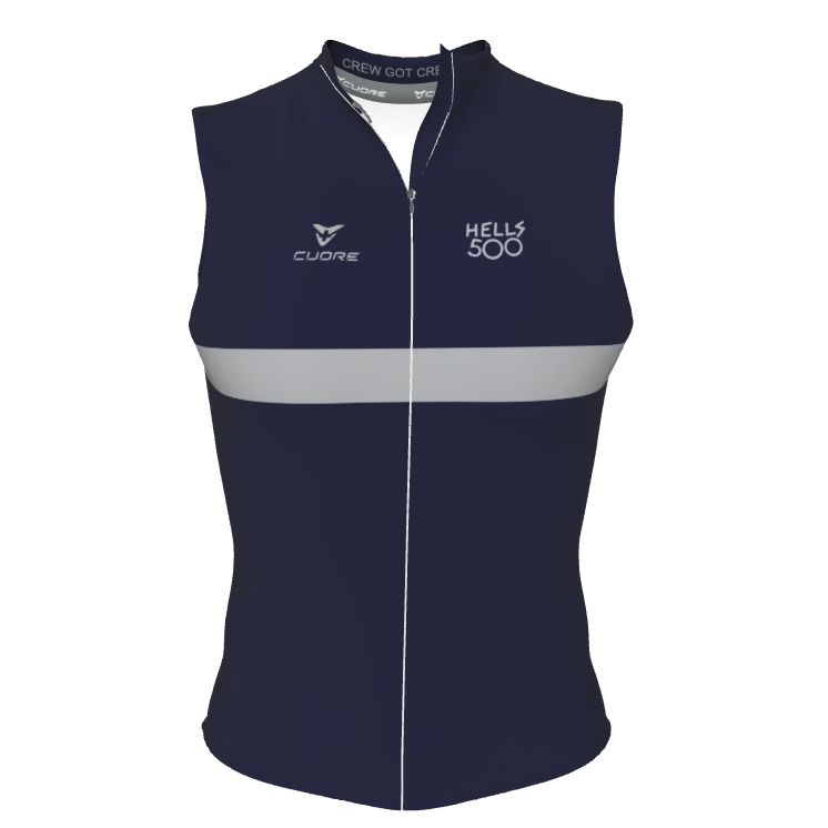NAVY GREY STRIPE GILET