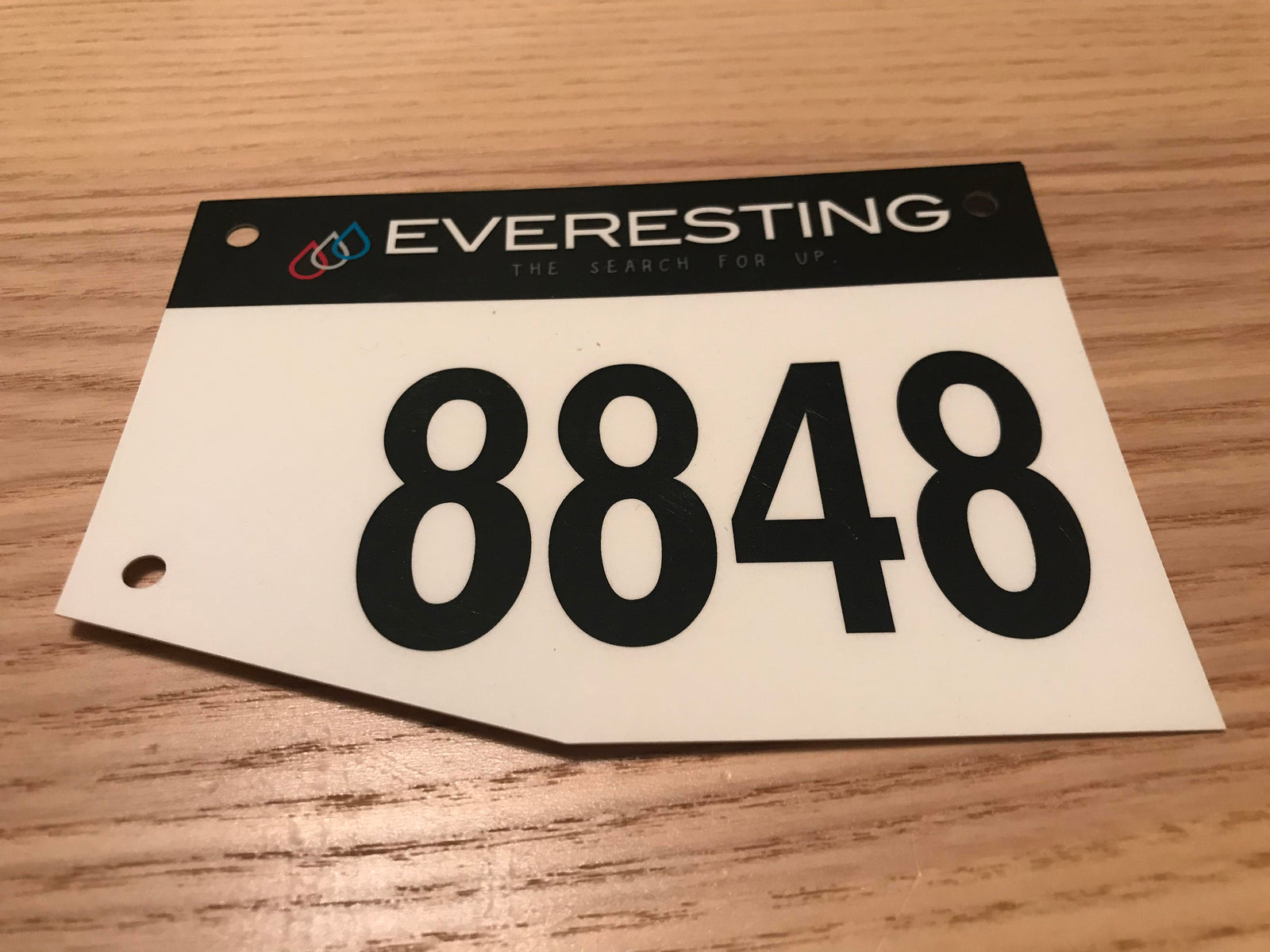 Everesting 'raceplate'