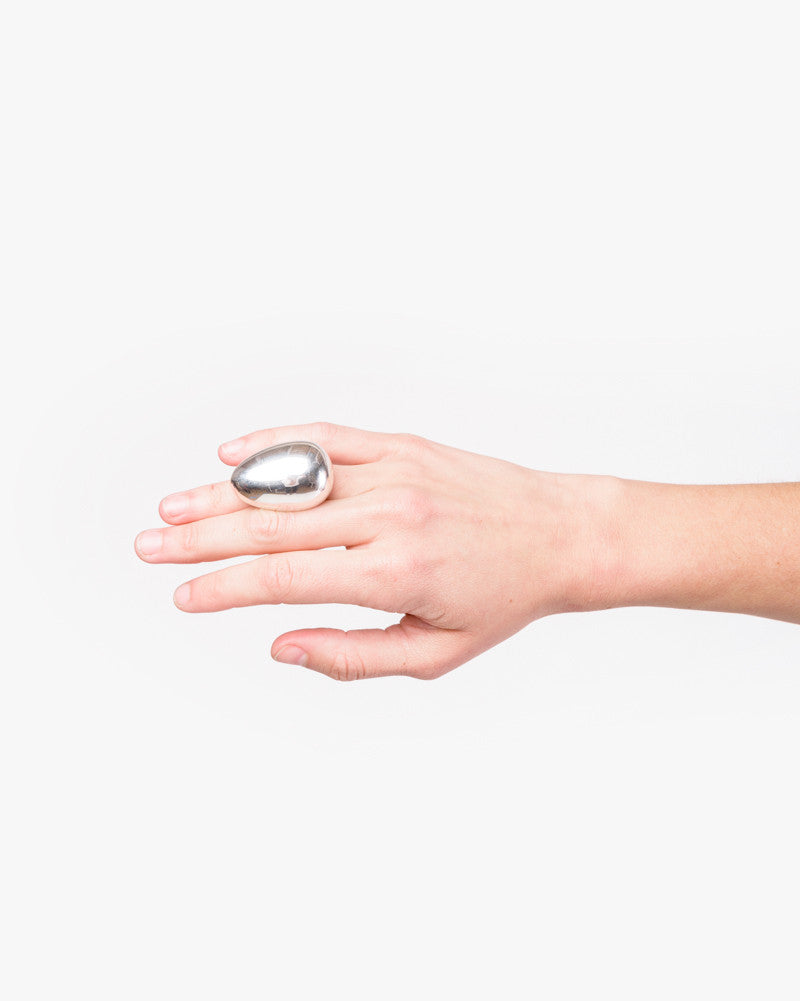 Egg Ring in Sterling Silver by Sophie Buhai at Mohawk General Store
